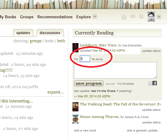 goodreads kindle web
