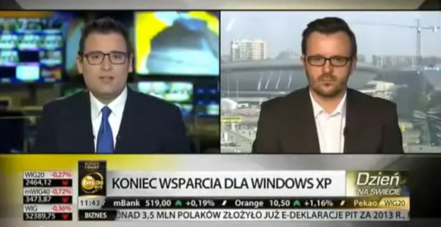 W TVN24 Biznes i Świat o końcu Windowsa XP i… oczywiście post-PC