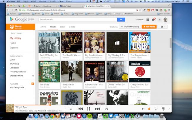 Google Music Polska – Biblioteka