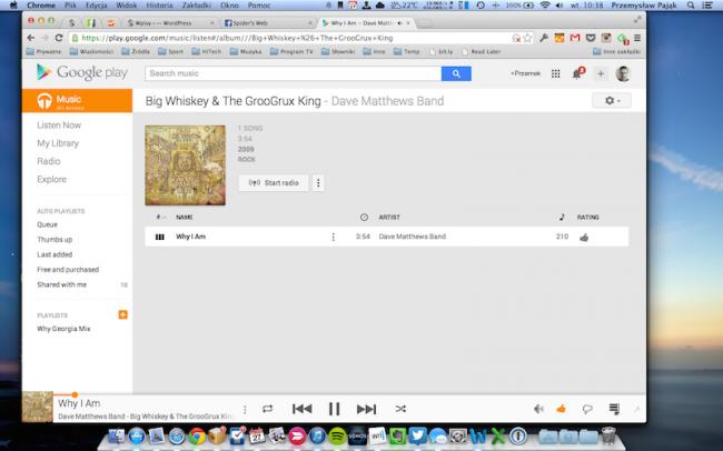 Google Play Music All Access – desktop