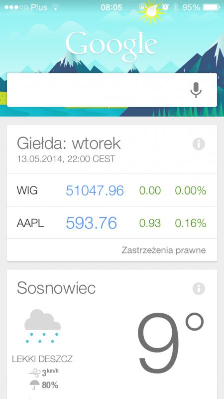 Google now, iPhone 2