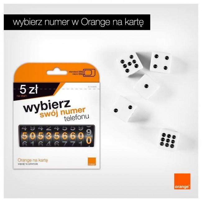 wybierz swoj numer orange na kartę