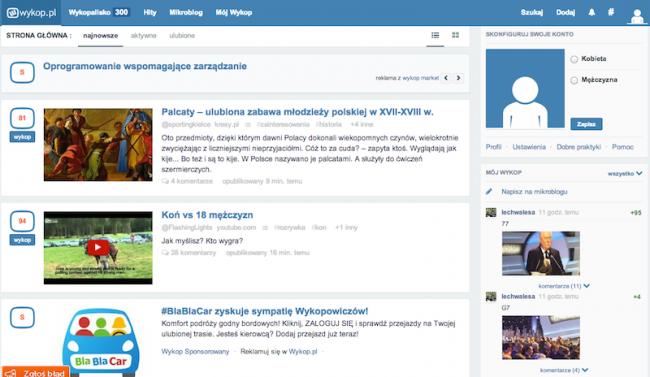 Nowy wyglad Wykop.pl