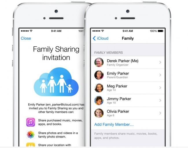 family share ios 8