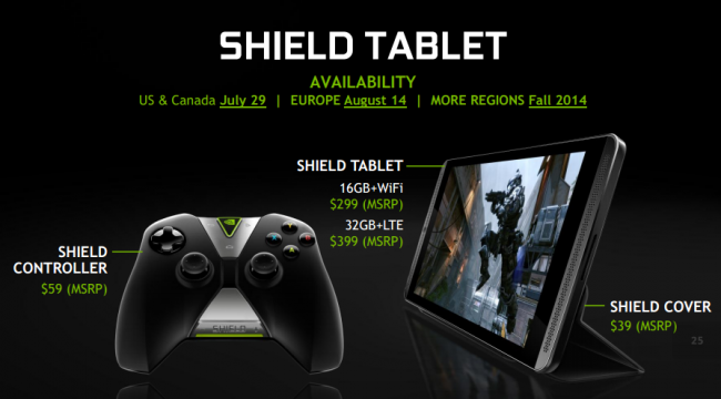 Nvidia Shield Tablet ceny