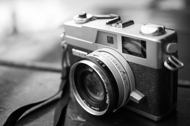 foto aparat analogowy