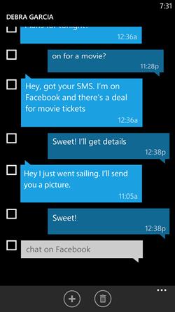 sms windows phone