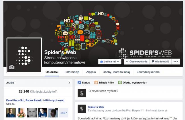 Facebook Spider's Web