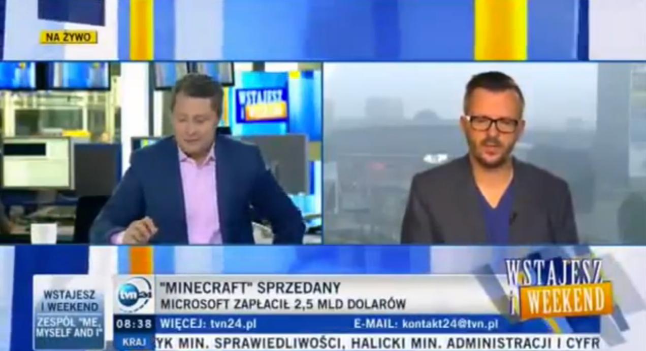 W TVN24 o fenomenie gry Minecraft