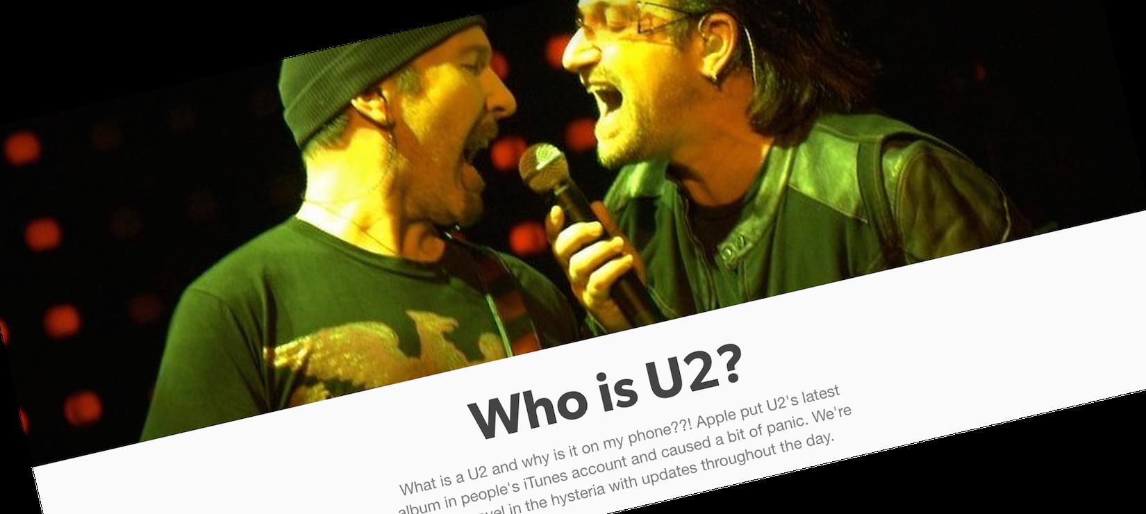 Zarówno Apple, jak i U2, muszą być w ciężkim szoku