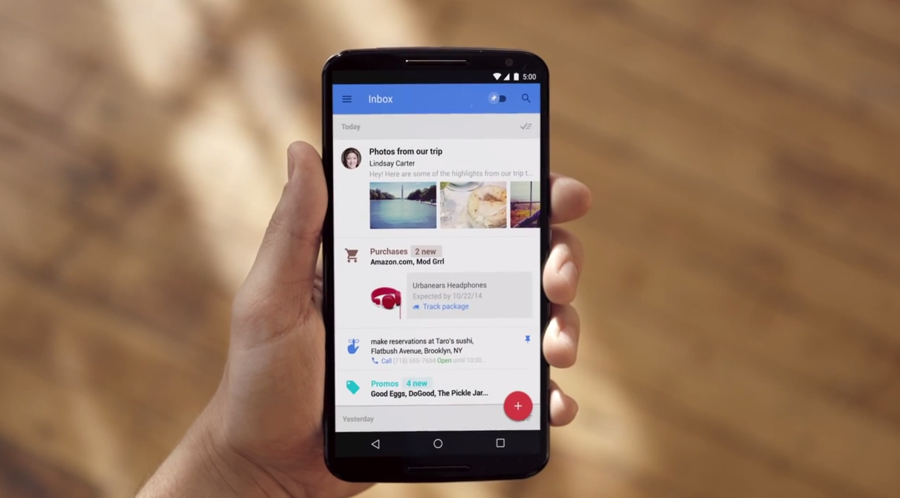 Aktualizacja Inbox by Gmail – najwygodniejsza skrzynka email właśnie stała się jeszcze lepsza