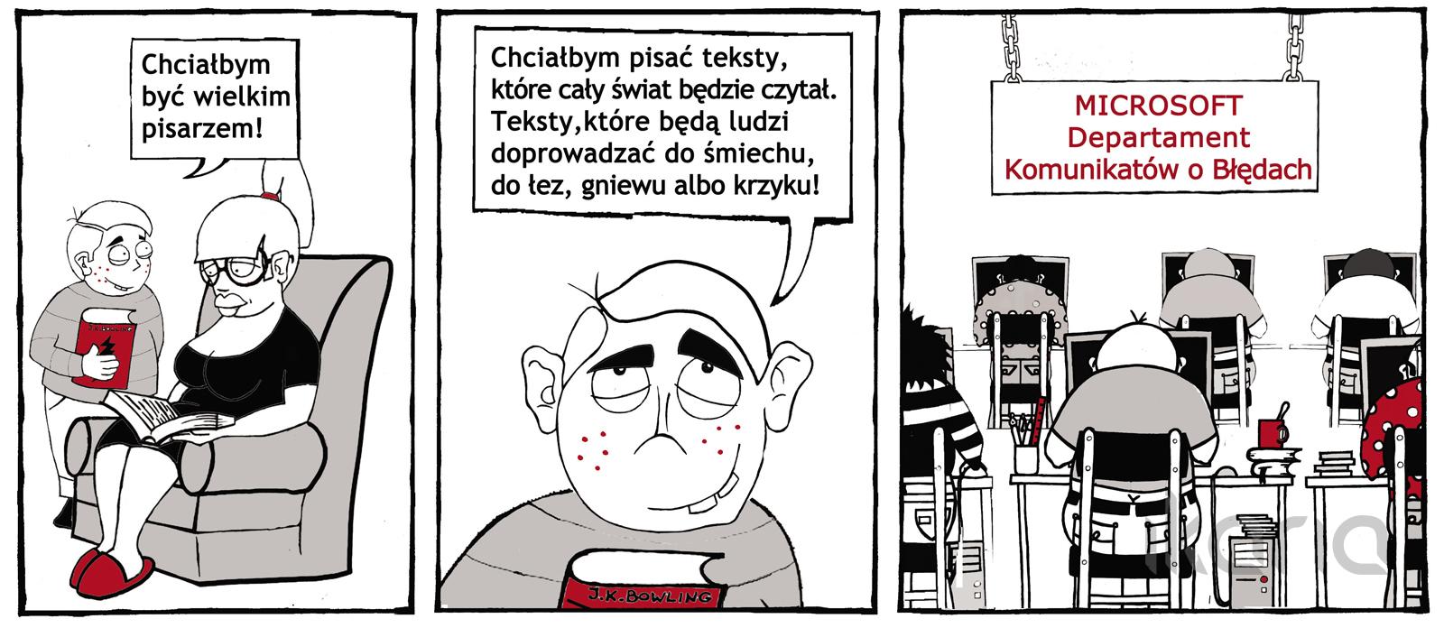 Komiks dnia #8: być pisarzem…