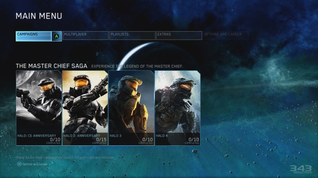 E3 2014 Halo The Master Chief Collection Menu – The Legend's Journey