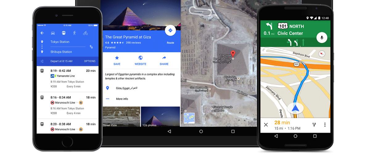 Łał! Nowe Mapy Google w Material Design prezentują się wyśmienicie