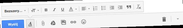 gmail formatowanie