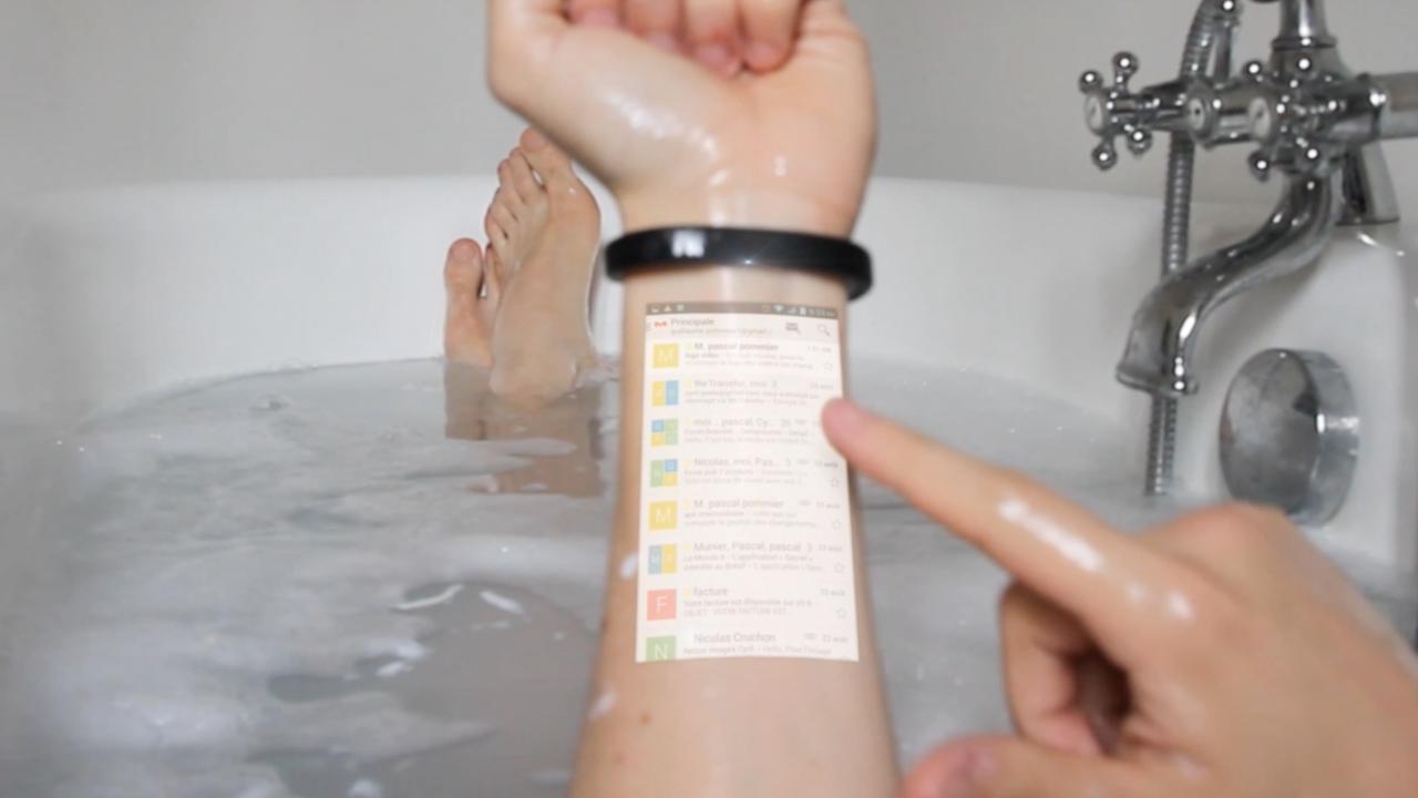 Ten wynalazek chce zamienić twoją rękę w smartfon. Oczywiście jeśli powstanie
