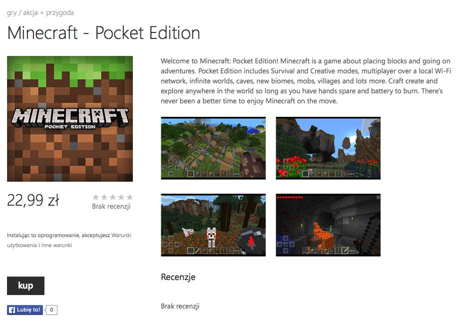 скачать minecraft покет edition на windows phone