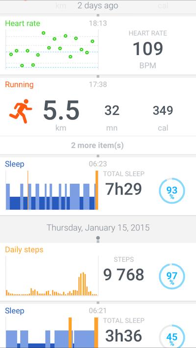 Health Mate heart rate