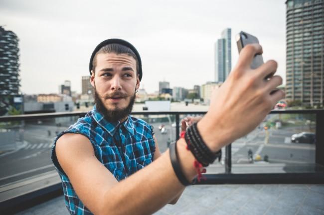 man selfie handsome