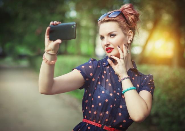 woman selfie beauty