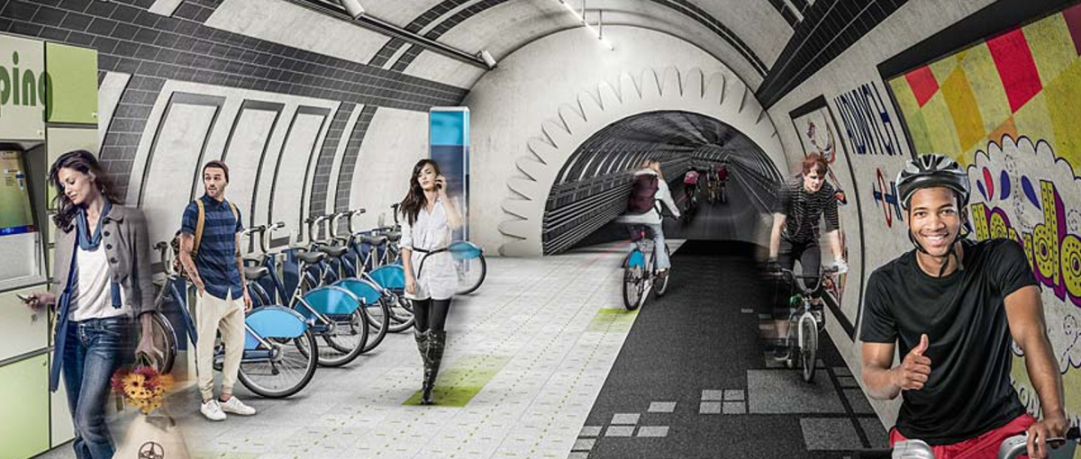 Rowerem w starym tunelu metra – poznaj projekt London Underline