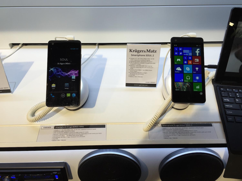 Smart opaska za 129 zł i tani smartfon z LTE, czyli nowości ze stoiska Kruger&Matz w Barcelonie