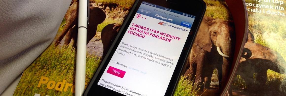 Darmowy internet w pociągach Intercity od T-Mobile nie jest już wcale taki darmowy