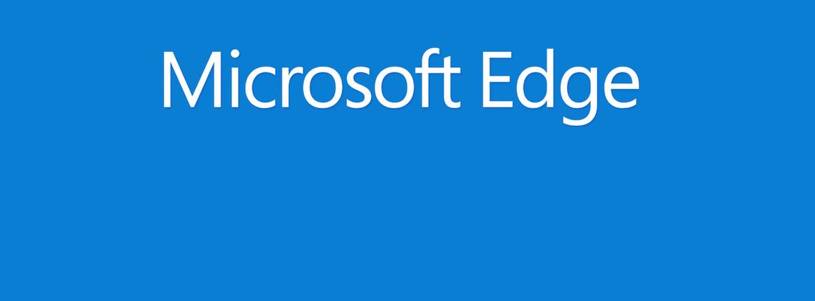 Logo nowej przeglądarki Microsoftu, Edge? Smutek :(