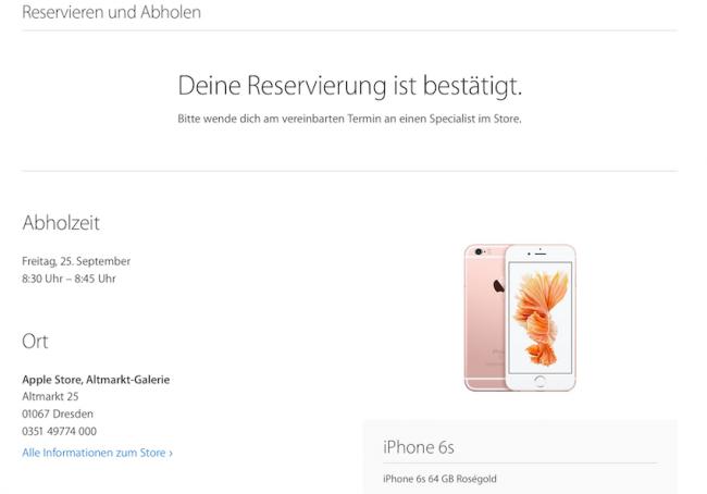 iPhone 6S rezerwacja
