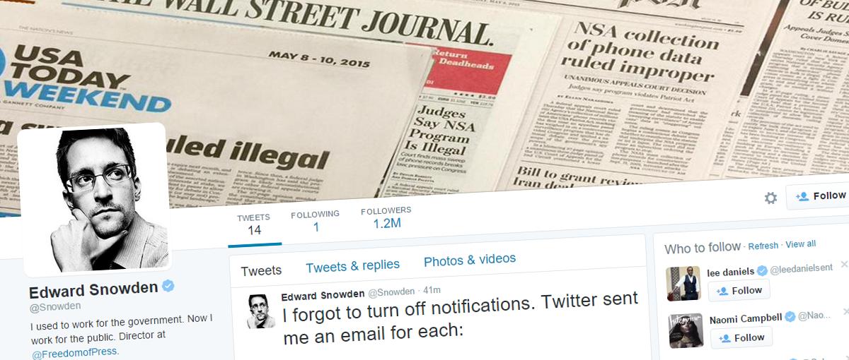 Liczba dnia: Twitter wysłał Snowdenowi na maila 47 GB danych