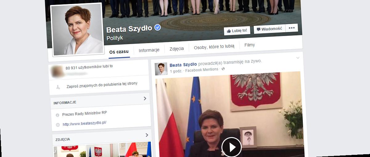 Żyjemy w ciekawych czasach, czyli jak Beata Szydło (nie) reklamowała Facebooka