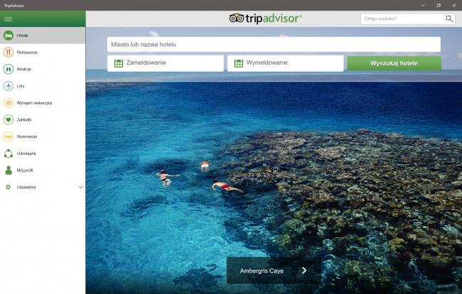 TripAdvisor na Windows 10
