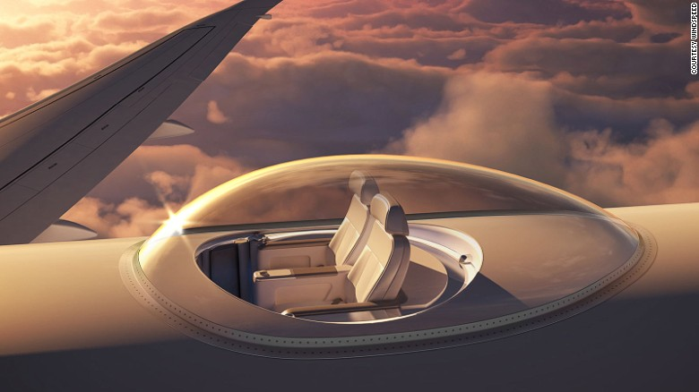 Takie miejsce w samolocie byłoby warte każdych pieniędzy