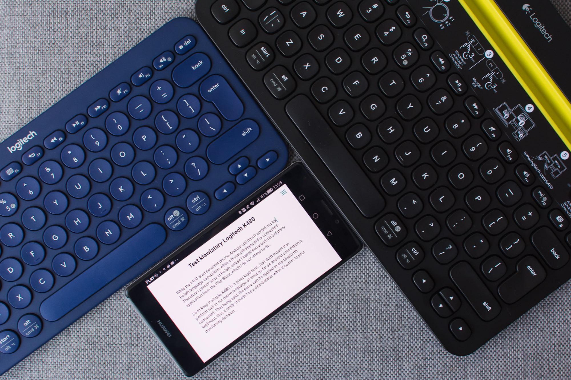 Logitech K480 i K380 - recenzja Spider's Web