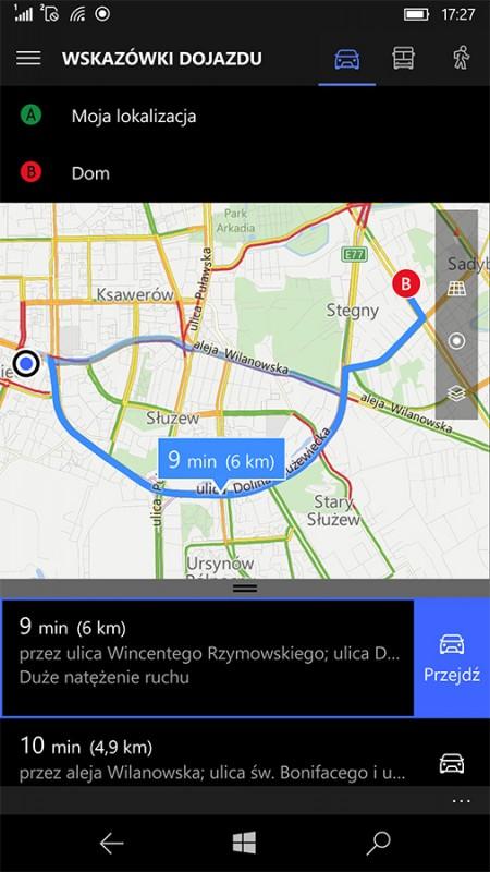 Here na Windows 10 z powodzeniem zastępują systemowe Mapy
