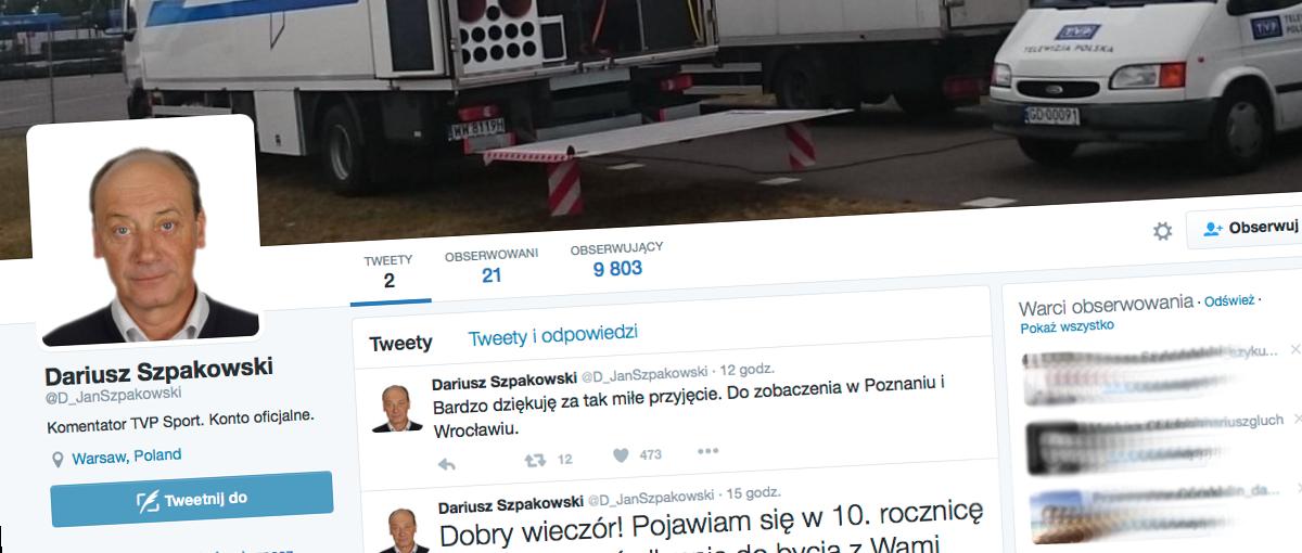 To chyba rekord polskiego Twittera – Dariusz Szpakowski założył konto i już ma 10 tys. obserwujących