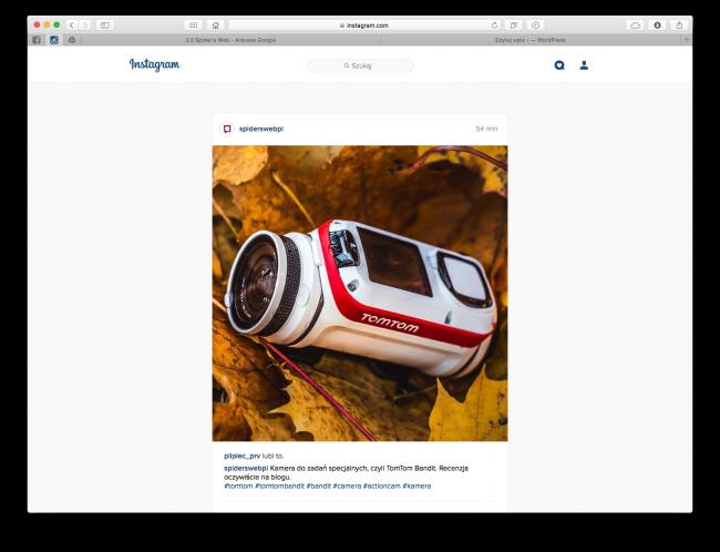 Tak wygląda Instagram w przeglądarce