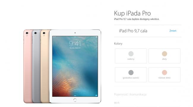 iPad Pro 9.7 - nowy tablet w ofercie