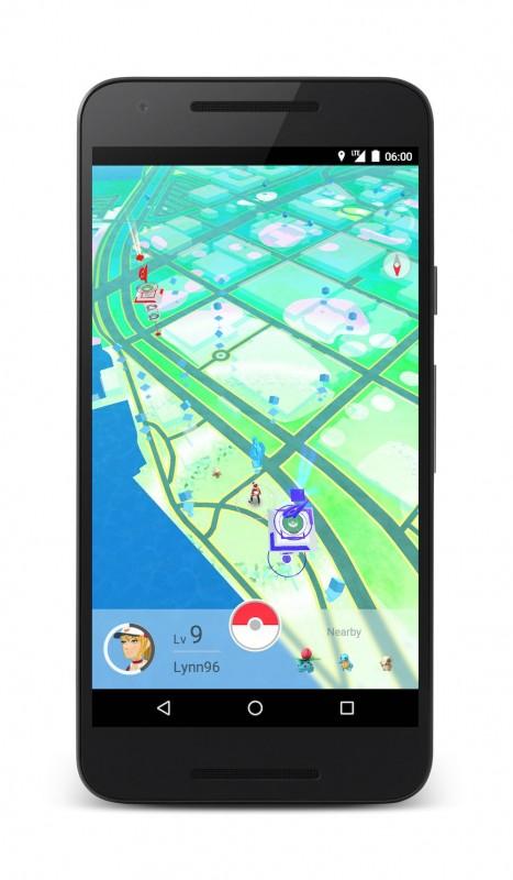 Screenshoty z Pokemon Go