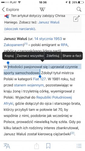 Wikipedia na iPhone'a