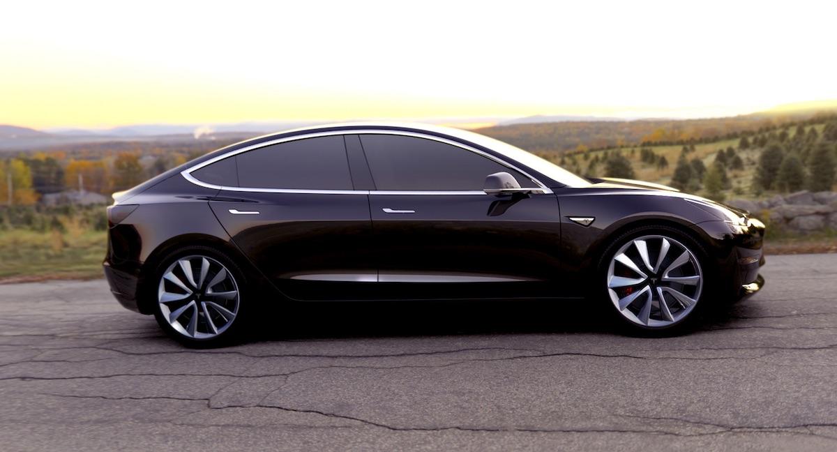 Tesla Model 3 samochody elektryczne