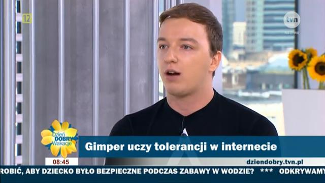 """Screen z materiału o Gimperze w """"Dzień Dobry TVN"""""""