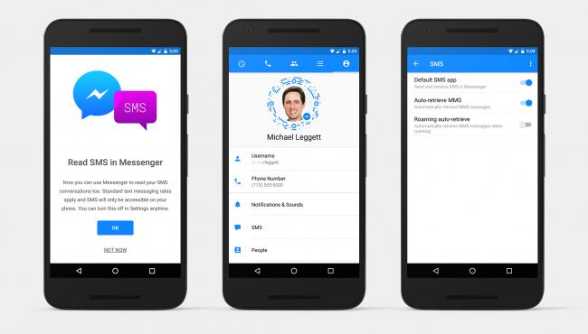 SMS-y z Messengera
