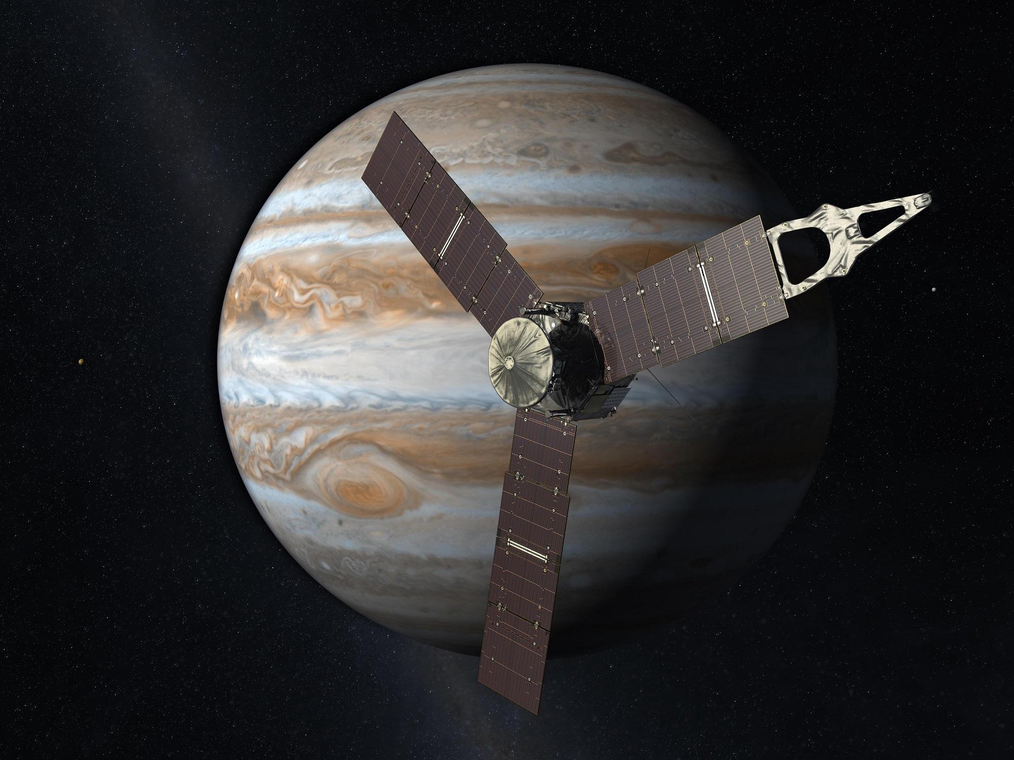 To nowy rozdział eksploracji kosmosu – sonda Juno jest już na orbicie Jowisza
