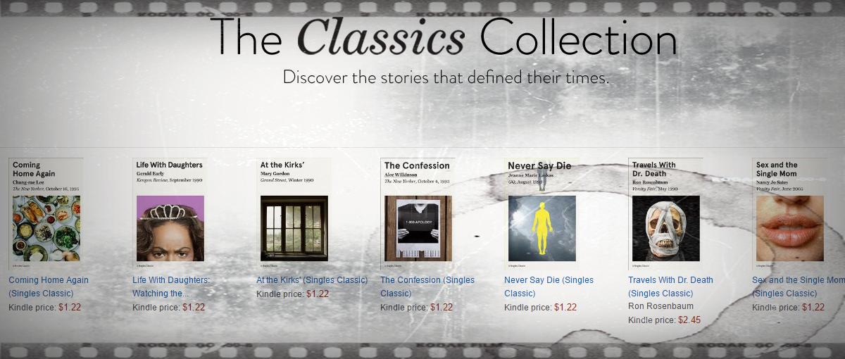Publicystyka jakiej nie znajdziesz w Sieci, na wyciągnięcie ręki. Poznaj Kindle Singles Classics