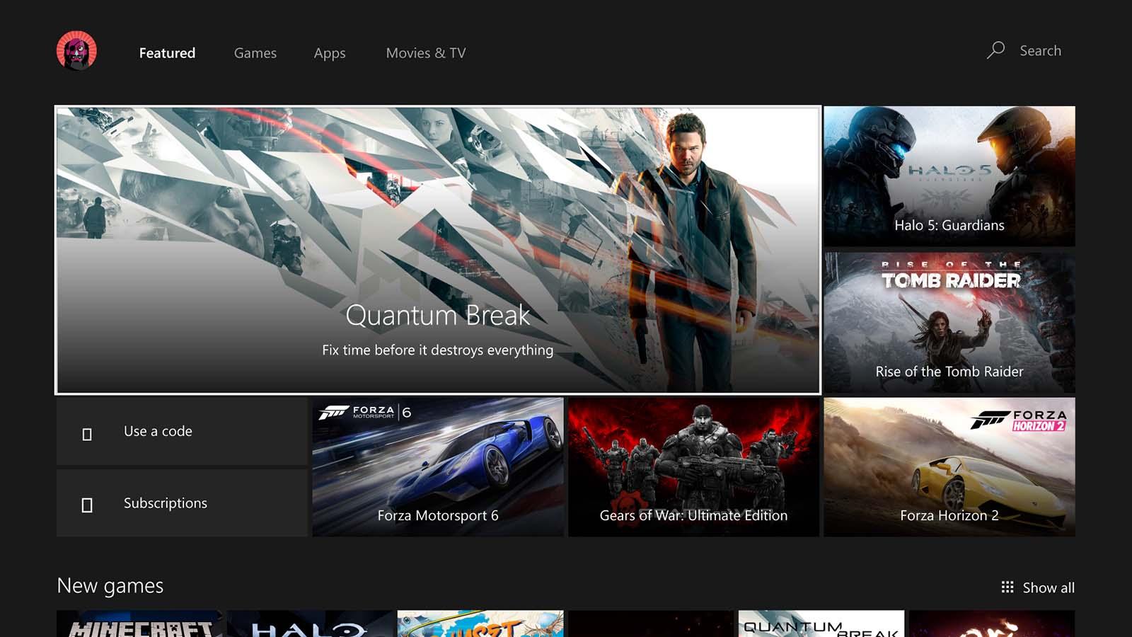 Windows 10 Anniversary Update na Xbox One