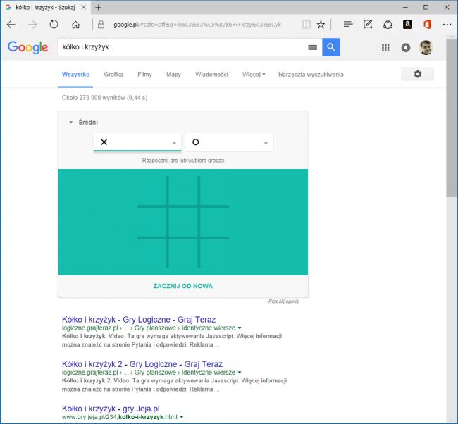 gry w Wyszukiwarce Google
