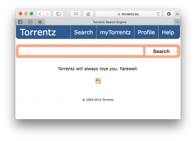 Torrentz nie działa