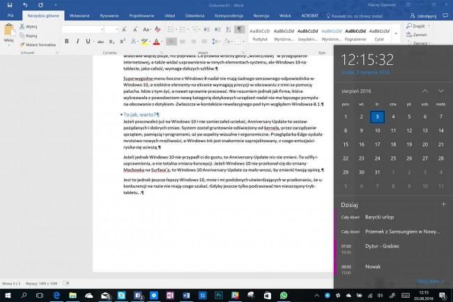 Windows 10 Anniversary Update test