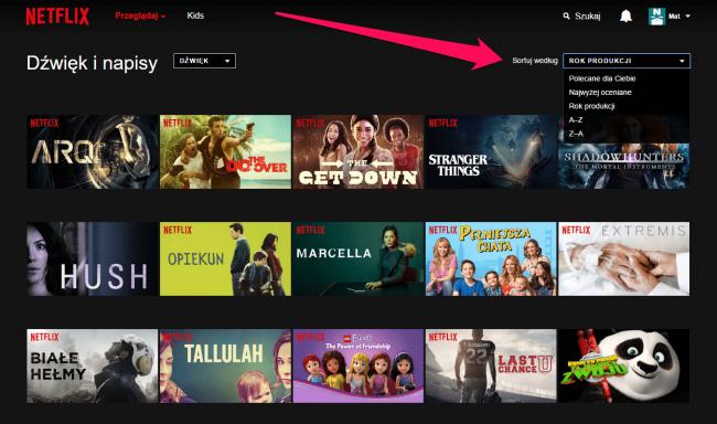 Netflix seriale po polsu